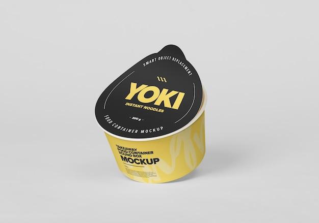 Afhaalmaaltijden container ronde doos mockup