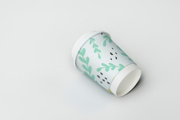 Afhaalmaaltijden koffiekopje mockup ontwerp