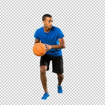 Afro amerikaanse basketbalspeler man
