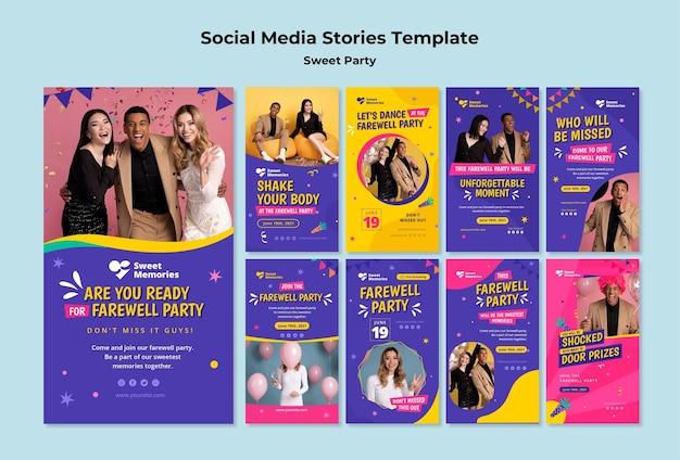 Afscheidsfeest social media verhalen
