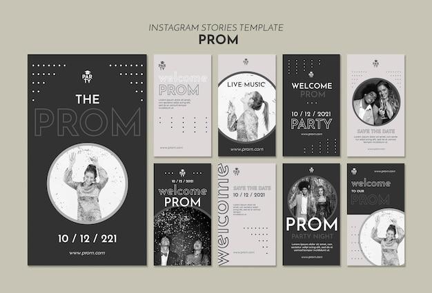 Afstudeer prom instagram verhaalsjablonen