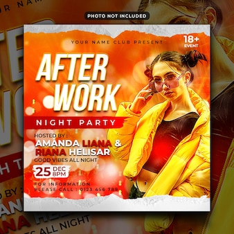 After work party flyer social media post