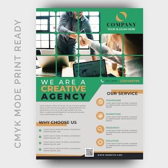 Agencia creativa moderna de negocios flyer