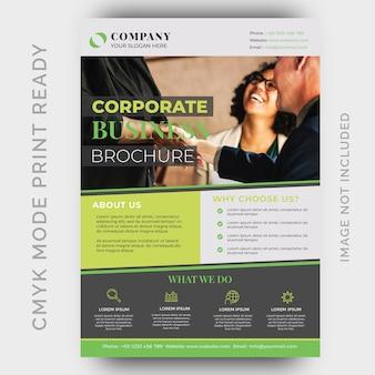 Agencia de creatividad moderna plantilla de diseño de folleto de negocios