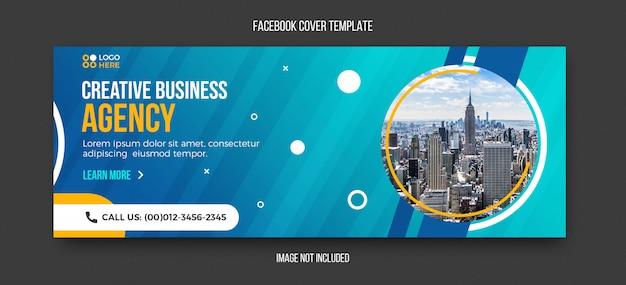Agentschap moderne facebook voorbladsjabloon