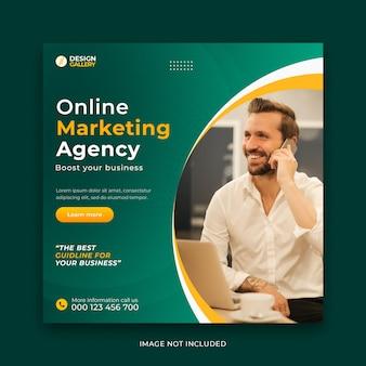 Agenzia di affari online e modello di banner web creativo moderno