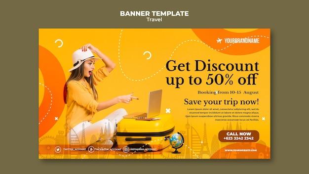 Agenzia di viaggi banner modello