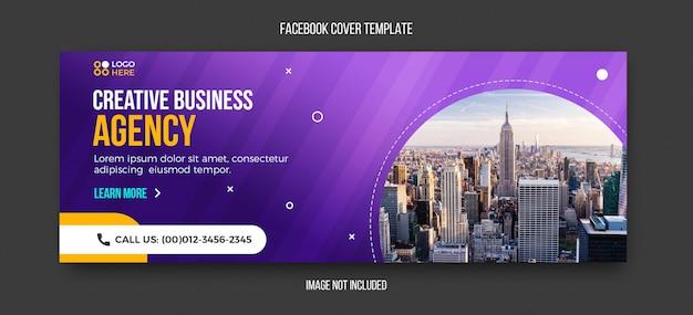 Agenzia moderna modello di copertina facebook