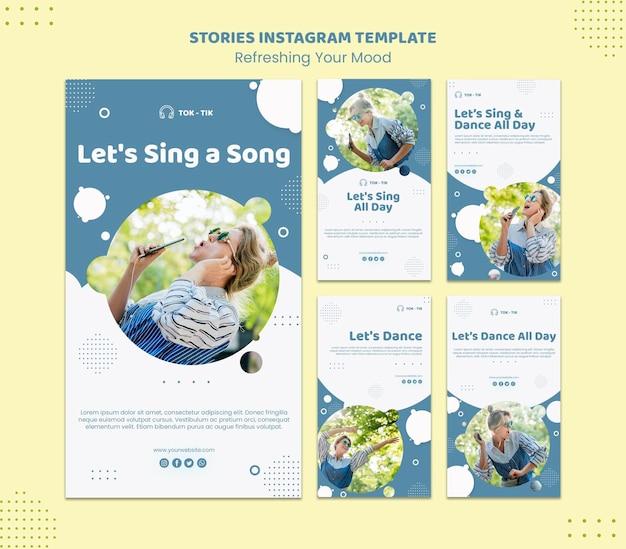Aggiorna il tuo umore modello di storie di instagram