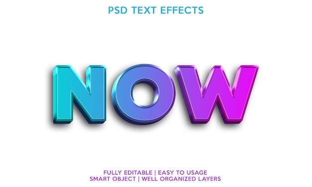 Ahora efecto de texto