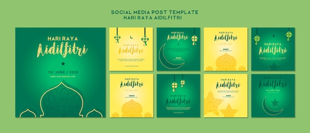 Aidilfitri instagram postverzameling