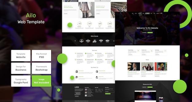 Ailo blog websjabloon