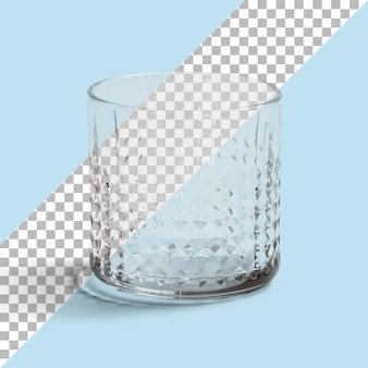 Aislado un vaso de agua vacío