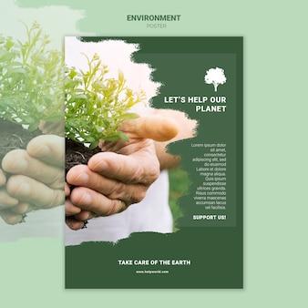 Aiutiamo il nostro modello di poster del pianeta