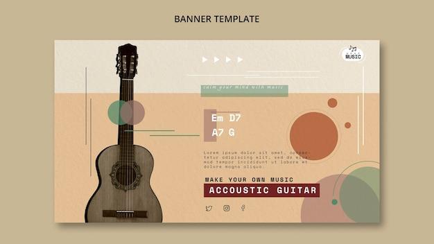 Akoestische gitaarlessen banner stijl
