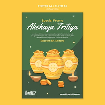 Akshaya tritiya afdruksjabloon