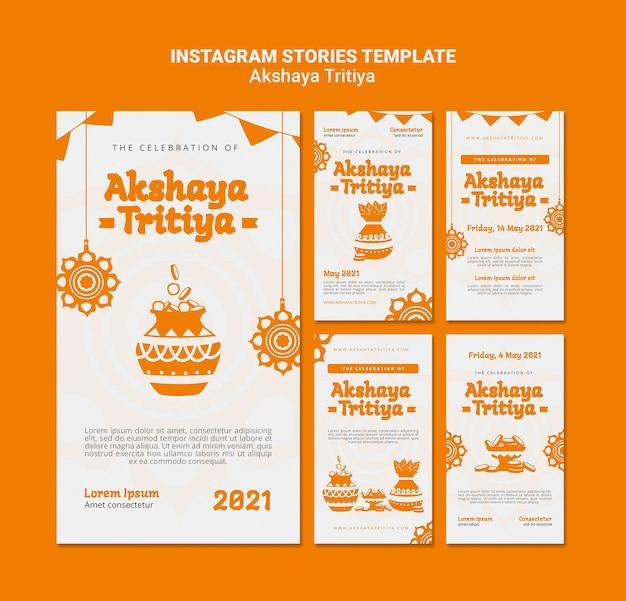 Akshaya tritiya instagram-verhalen