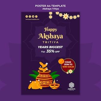 Akshaya tritiya poster sjabloon