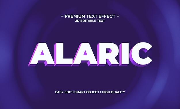 Alaric 3d-tekststijleffectsjabloon