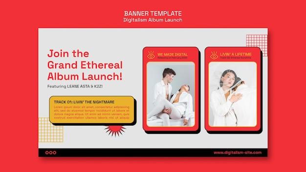 Album lancering horizontale banner