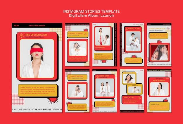 Album lancering sociale media-verhalen