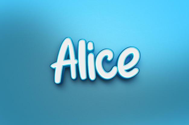 Alice tekst stijl effect sjabloon