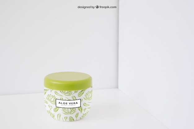 Aloe vera imballaggio mockup