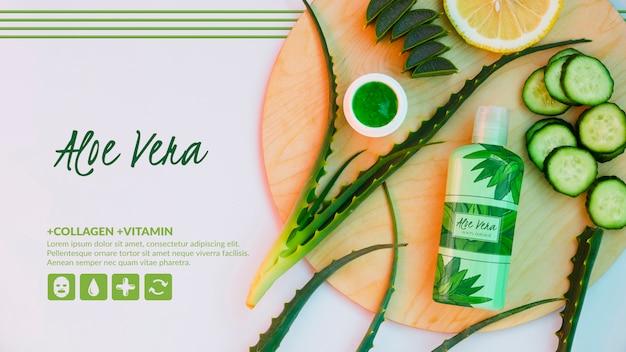 Aloë vera-product met komkommers