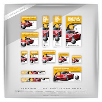 Alquiler de coches banner set