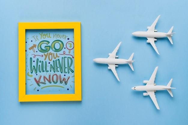 Als je nooit gaat, zul je nooit weten, belettering over reizen
