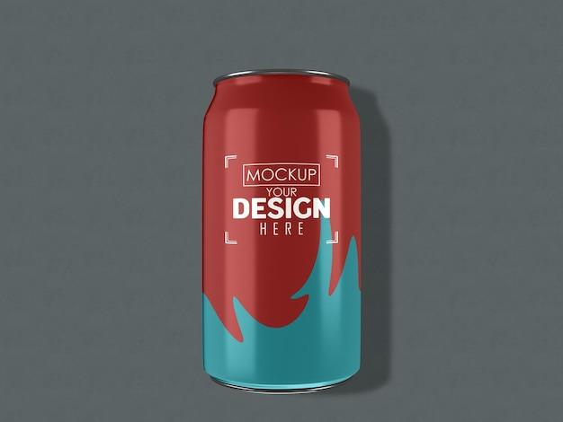 Aluminio, metal puede empaquetar la maqueta para la marca y la identidad.