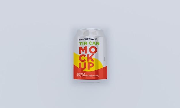 Aluminium frisdrank kan drank psd-mockup drinken