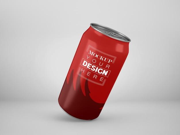 Aluminium, metal kan mockup verpakken voor branding en identiteit.