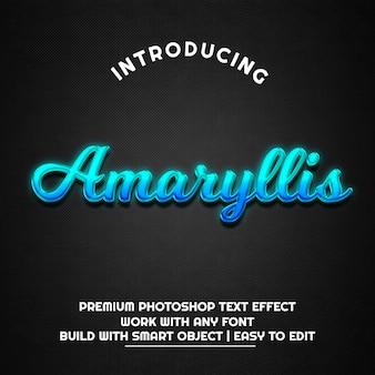 Amaryllis - modello effetto testo