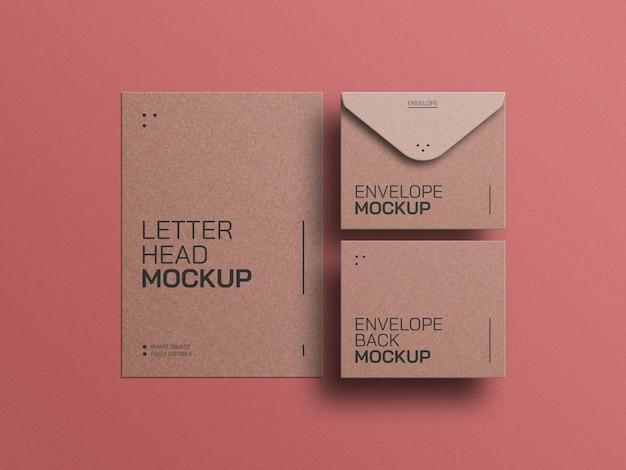 Ambachtelijk papier met briefpapier mockup