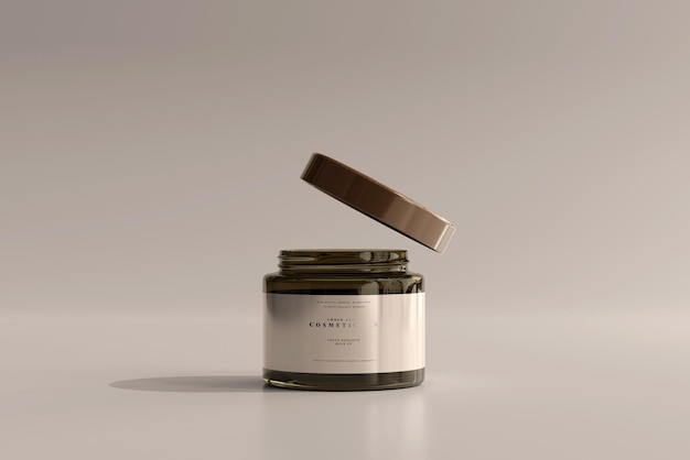 Amber glazen cosmetische potmodel