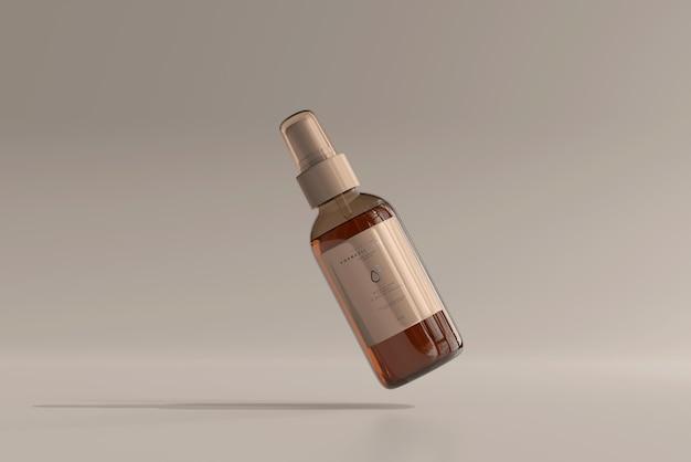 Amber glazen cosmetische spuitflesmodel
