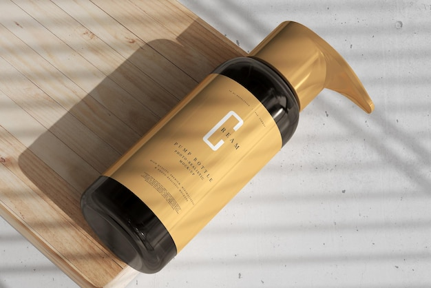 Amber glazen pompflesmodel