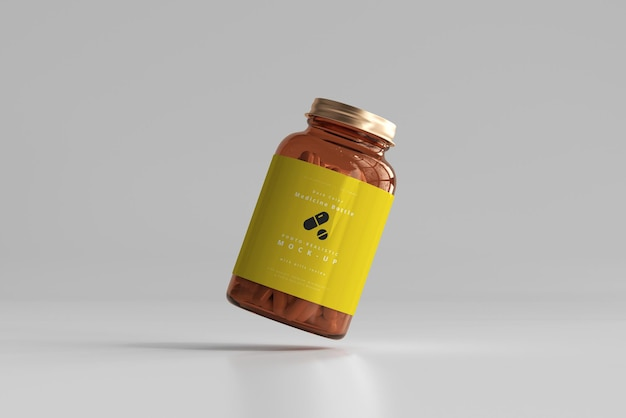 Amber medicijnflesmodel