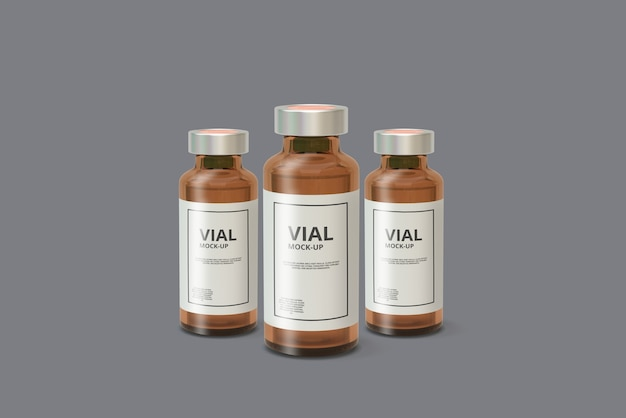 Amber medicine vial mockup