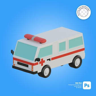 Ambulance 3d-object isometrisch