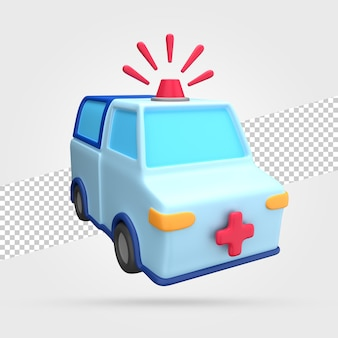 Ambulance 3d render