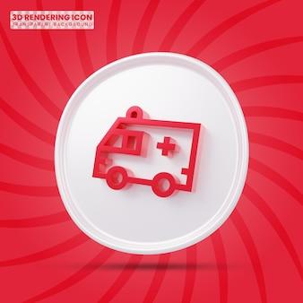 Ambulance 3d-rendering pictogram