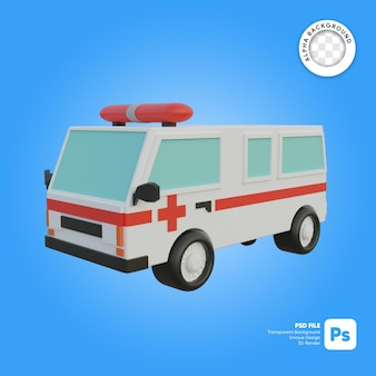 Ambulance front look 3d-object