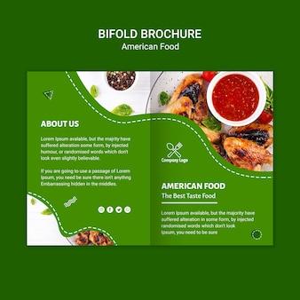 Amerikaans voedsel tweevoudige brochure