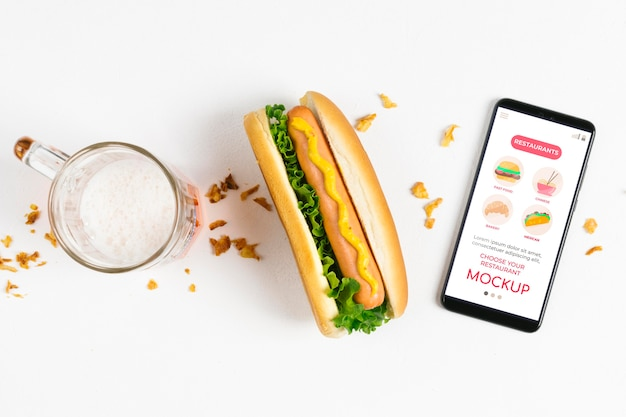 Amerikaans voedselconcept mock-up