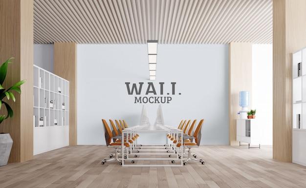 Ampio spazio di lavoro. mockup da parete