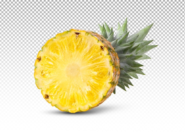 Ananas con fette isolate