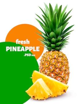 Ananas geïsoleerd