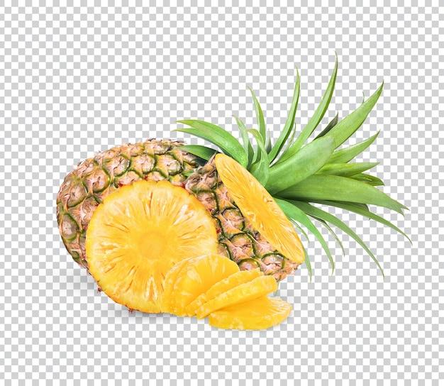 Ananasfruit met geïsoleerde plakken